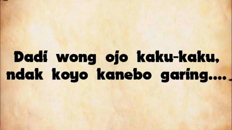 Kumpulan status lucu banget bahasa Jawa yang Menggelitik